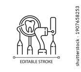 dental equipment linear icon.... | Shutterstock .eps vector #1907658253