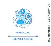 hybrid cloud concept icon. saas ... | Shutterstock .eps vector #1907659429