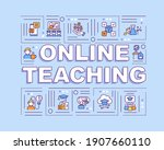 online teaching word concepts...