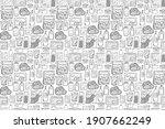 seamless pattern of various... | Shutterstock .eps vector #1907662249