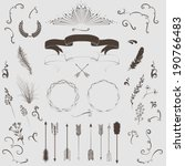 decorative elements set  arrows ... | Shutterstock .eps vector #190766483
