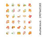 groceries category vector flat...   Shutterstock .eps vector #1907665183
