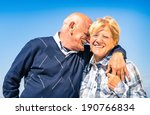 happy senior couple in love... | Shutterstock . vector #190766834