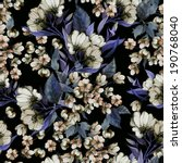 seamless floral pattern with of ... | Shutterstock . vector #190768040