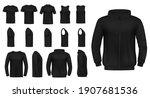 t shirt  singlet and pullover ... | Shutterstock .eps vector #1907681536