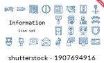 information icon set. line icon ...