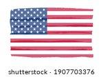 flag of united states in grunge ... | Shutterstock .eps vector #1907703376
