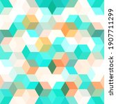 hexagon grid beige teal...