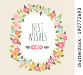 Hand Drawn Vector Floral Frame...