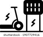 ev bike recharging point vector ...