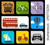 transportation flat icons | Shutterstock .eps vector #190773254