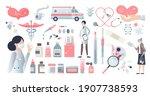 medicine themed elements set...   Shutterstock .eps vector #1907738593