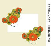 colored simple flower bouquet... | Shutterstock . vector #1907748196