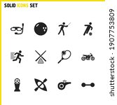exercise icons set with...