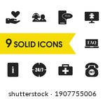 service icons set with faq...