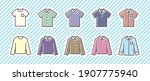 10 icon set  clothing  shirt  | Shutterstock .eps vector #1907775940