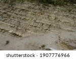 Limestone Cliff Texture With...