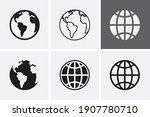 earth globe icons  worldmap.... | Shutterstock .eps vector #1907780710