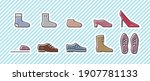 10 icon set  footwear . vector... | Shutterstock .eps vector #1907781133