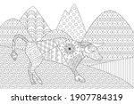 mountain landscape with bull... | Shutterstock .eps vector #1907784319
