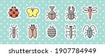 10 icon set  creature  insect  | Shutterstock .eps vector #1907784949