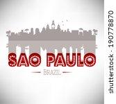 sao paulo skyline design ... | Shutterstock .eps vector #190778870