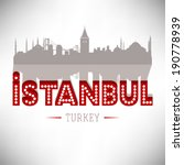 istanbul turkey skyline design  ... | Shutterstock .eps vector #190778939