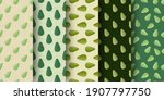 set of seamless pattern with... | Shutterstock .eps vector #1907797750