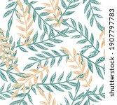 isolated botanic seamless... | Shutterstock .eps vector #1907797783