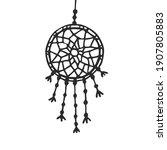 hanging dream catcher   vector... | Shutterstock .eps vector #1907805883