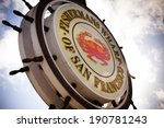 fishermans wharf sign   san... | Shutterstock . vector #190781243
