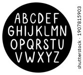 hand drawn vector font. english ... | Shutterstock .eps vector #1907815903
