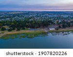 Sunset Over Town Colac In...