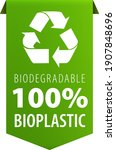 biodegradable 100 percent...   Shutterstock .eps vector #1907848696