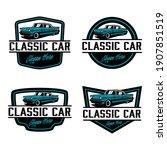 vintage car logo design template   Shutterstock .eps vector #1907851519