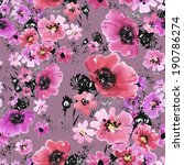 floral pattern poppies  b | Shutterstock . vector #190786274