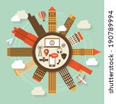 global communication concept... | Shutterstock .eps vector #190789994