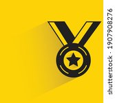 star medal of honor with shadow ... | Shutterstock .eps vector #1907908276