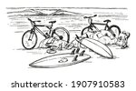 Vector Illustration In Sketch...
