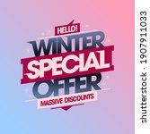 winter special offer  massive...   Shutterstock .eps vector #1907911033