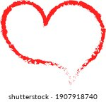 red heart   doodle style... | Shutterstock .eps vector #1907918740