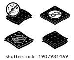 badges for material with... | Shutterstock .eps vector #1907931469