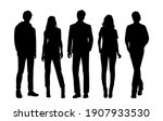 vector silhouettes of  men and... | Shutterstock .eps vector #1907933530
