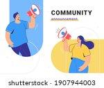 social media community... | Shutterstock .eps vector #1907944003