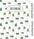 cactus vector seamless...   Shutterstock .eps vector #1907951299