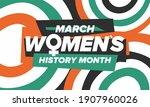 women's history month....   Shutterstock .eps vector #1907960026