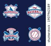baseball logo badges. this...   Shutterstock .eps vector #1907962189