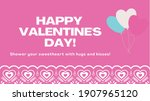 happy valentines day text with... | Shutterstock .eps vector #1907965120