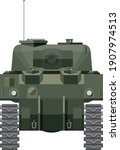 american ww2 m4 sherman tank front illustration vector