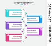 infographics design template ... | Shutterstock .eps vector #1907994610